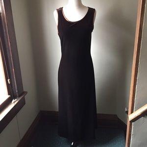 Carole Little. Velveteen stretch dress. Deep Brown